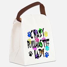 Crazy Bullmastiff Lady Canvas Lunch Bag