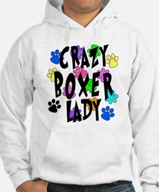 Crazy Boxer Lady Hoodie