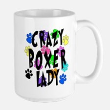 Crazy Boxer Lady Large Mug