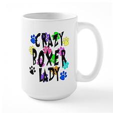 Crazy Boxer Lady Mug