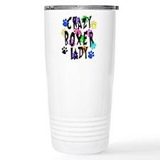 Crazy Boxer Lady Travel Mug