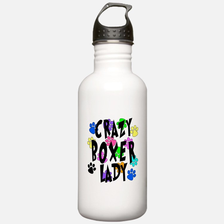 Crazy Boxer Lady Water Bottle