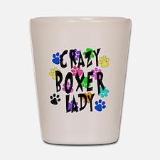 Crazy Boxer Lady Shot Glass