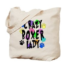Crazy Boxer Lady Tote Bag