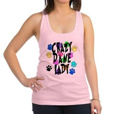 Crazy Dane Lady Racerback Tank Top