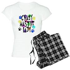 Crazy Mastiff Lady Pajamas
