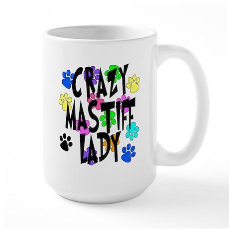Crazy Mastiff Lady Large Mug