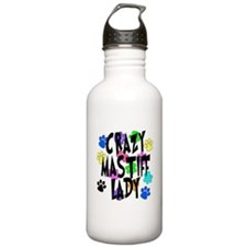 Crazy Mastiff Lady Water Bottle