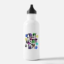 Crazy Mastiff Lady Water Bottle