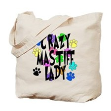 Crazy Mastiff Lady Tote Bag
