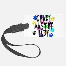 Crazy Mastiff Lady Luggage Tag