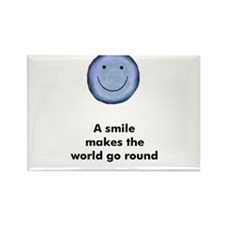 A smile makes the world go ro Rectangle Magnet (10
