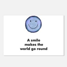 A smile makes the world go ro Postcards (Package o
