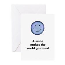 A smile makes the world go ro Greeting Cards (Pack