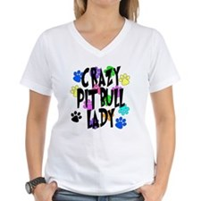 Crazy Pit Bull Lady Shirt