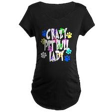 Crazy Pit Bull Lady T-Shirt