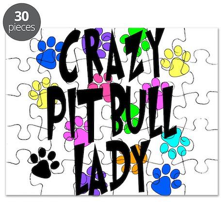 Crazy Pit Bull Lady Puzzle