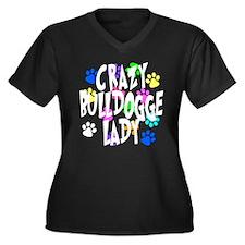 Crazy Bulldogge Lady Women's Plus Size V-Neck Dark
