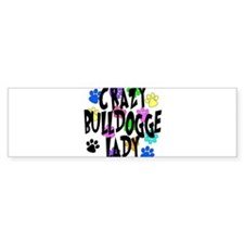 Crazy Bulldogge Lady Bumper Sticker