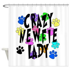 Crazy Newfie Lady Shower Curtain