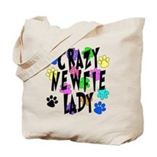 Crazy Newfie Lady Tote Bag