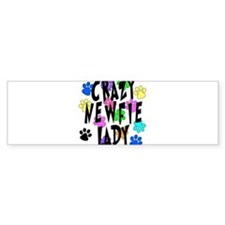 Crazy Newfie Lady Bumper Sticker