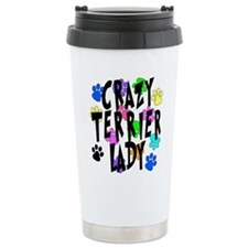 Crazy Rat Terrier Lady Travel Mug