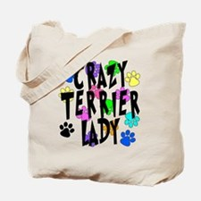 Crazy Rat Terrier Lady Tote Bag