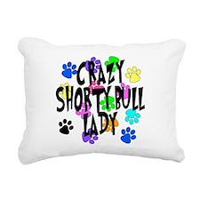 Crazy Shorty Bulls Lady Rectangular Canvas Pillow