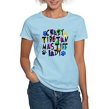Crazy Tibetan Mastiff Lady T-Shirt