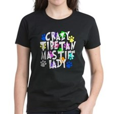 Crazy Tibetan Mastiff Lady Tee