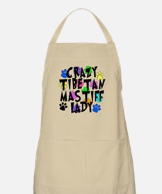 Crazy Tibetan Mastiff Lady Apron