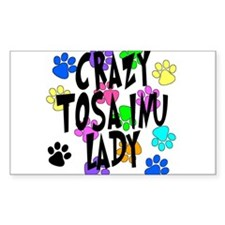 Crazy Tosa Inu Lady Decal