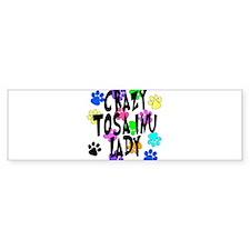 Crazy Tosa Inu Lady Bumper Sticker