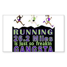 RUNNING IS SO GANGSTA FULL MARATHON Decal