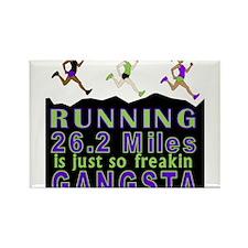 RUNNING IS SO GANGSTA FULL MARATHON Rectangle Magn