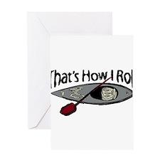 kayakroll.png Greeting Card