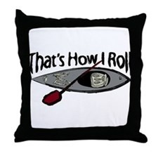 kayakroll.png Throw Pillow