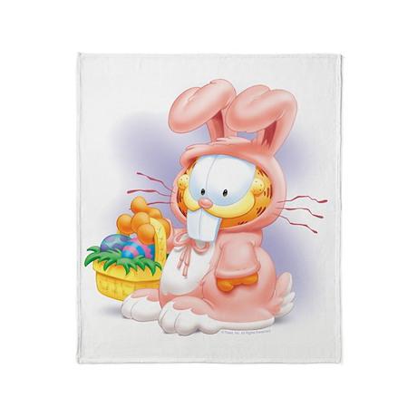 Easter Kitty Throw Blanket