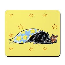 Black Pomeranian Bear Mousepad