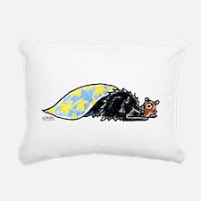 Black Pomeranian Bear Rectangular Canvas Pillow