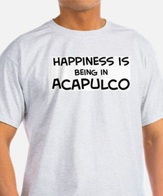 Happiness is Acapulco Ash Grey T-Shirt