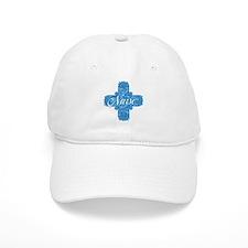 Lacy Blue Nurse Cross Baseball Cap
