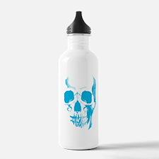 Blue Skull Face Water Bottle