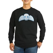 Cute Blue Skull With Wings T