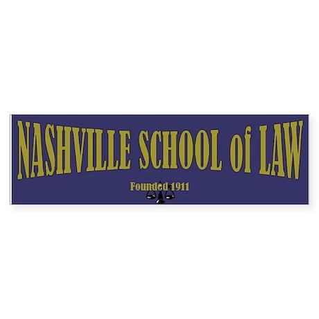 Nashville School of Law Bumper Sticker