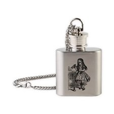Vintage Alice Drink Me Flask Necklace
