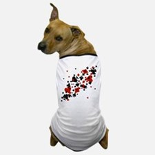 Scattered Card Suits Dog T-Shirt