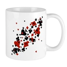 Scattered Card Suits Mug