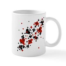 Scattered Card Suits Mug